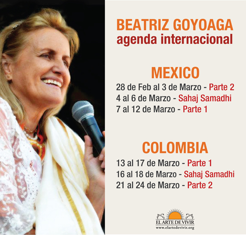 Agenda Internacional Beatriz Goyoaga