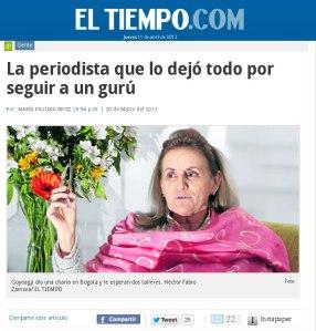 Beatriz Goyoaga El Tiempo El Arte de Vivir Colombia
