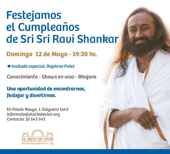 Festejamos el Cumpleaños de Sri Sri Ravi Shankar